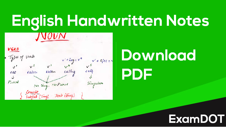 English Handwritten Notes Download PDF - ExamDot